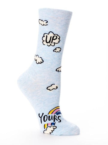 Women's Crew Socks - Up Yours - Blue Q - Navya