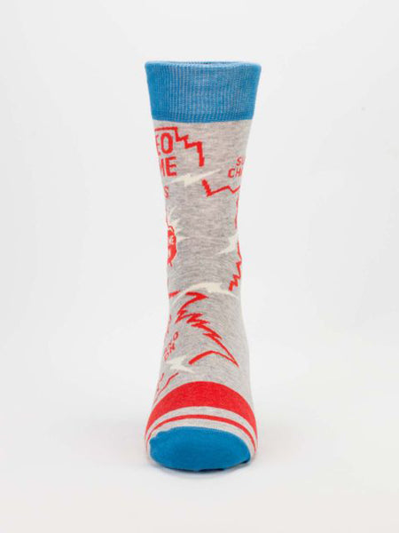 Men's Crew Socks - Video Game - Blue Q - Navya