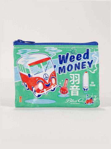 Weed Money Coin Purse - Blue Q - Navya