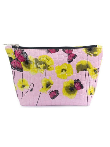 Yellow Poppies Cosmetic Bag