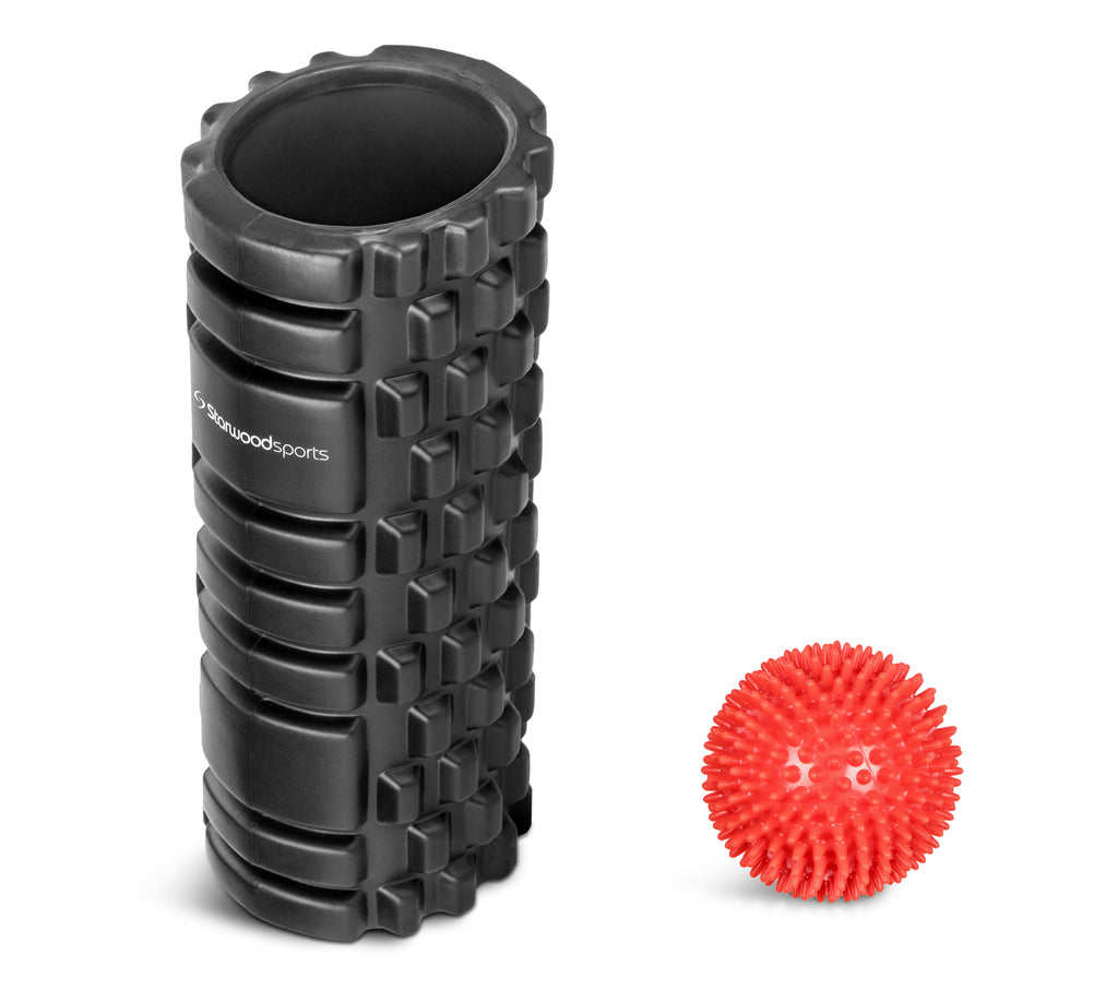 Foam Roller and Spiky Massage Ball Set