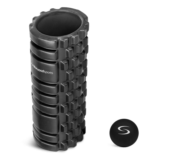 Foam Roller and Lacrosse Massage Ball Set