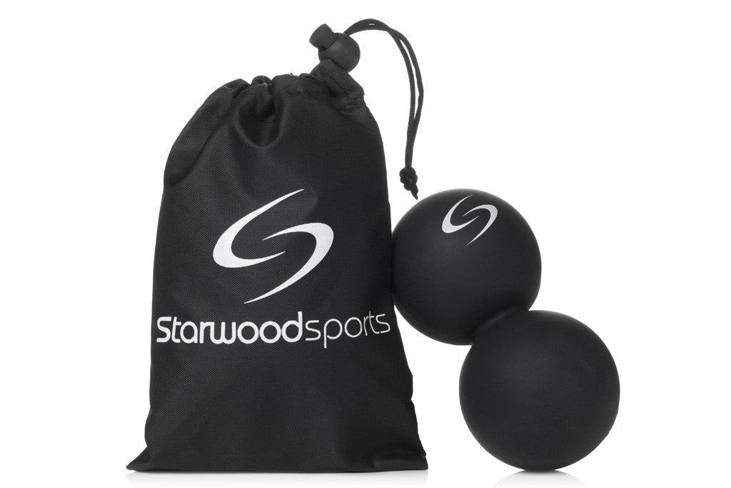 Massage Ball - Peanut Lacrosse Ball - Ideally Suited for Myofascial Release, Trigger Point Therapy and Deep Tissue Massage - Starwood Sports UK - 4