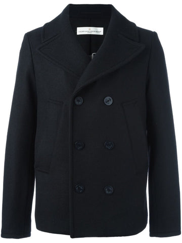 Black double-breasted short coat