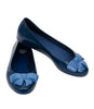 Melissa Bow Ballerinas - Navy Flat Belly With Big Navy Bow