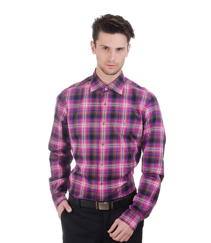 ALEA PINK ,PURPLE & BLACK CHECK SHIRT
