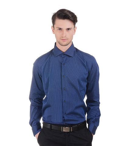 ALEA DARK BLUE STRIPE SHIRT