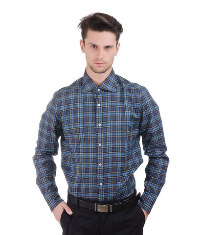 ALEA BLUE BIG CHECK SHIRT