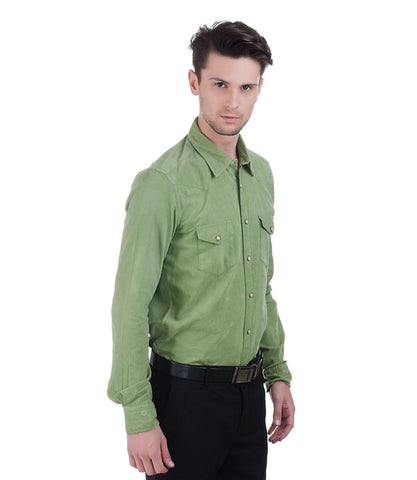ALEA GREEN CORD SHIRT