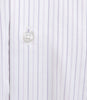 Nina Ricci Lt. & Dark Purple Thin Stripe On White Shirt