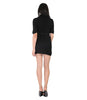 Phard Black High Neck Dress With Thin Belt