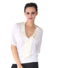 Farhi White Top With Big Cream Sequence