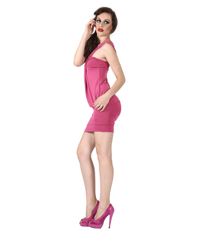 Phard Pink Dress With Metallic Phard Logo