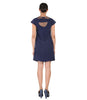 Farhi Navy Blue CutWork Dress