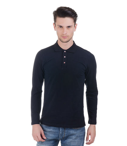 Lagerfeld Navy Polo T-Shirt With Red Buttons
