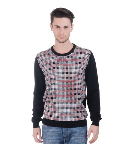 Lagerfeld Red & Black Check Pullover