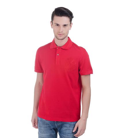 CHRISTIAN LACROIX RED POLO T-SHIRT