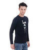 "Lagerfeld Navy Full sleeve ""The Lagerfeld"" Print T-Shirt"