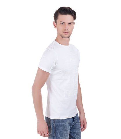 Lagerfeld White Rubber Print T-Shirt
