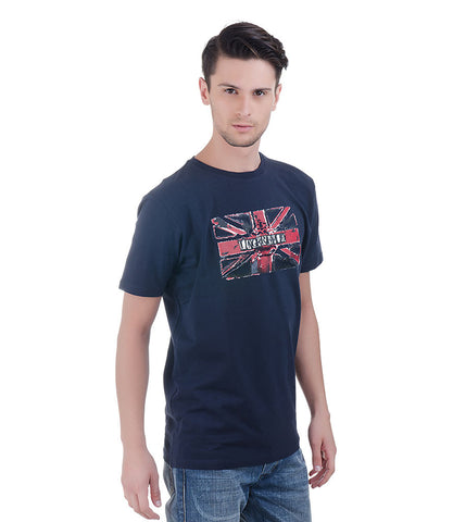 Lagerfeld Navy T-shirt With Flag Print Infront