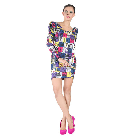Miss Sixty Multi color printed dress
