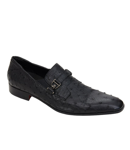 Roberto Botticelli Black Slip-On Shoes
