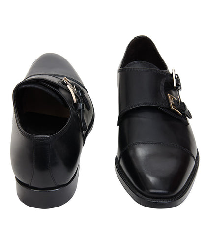Bruno Magli Black Adjustable Buckle Shoes