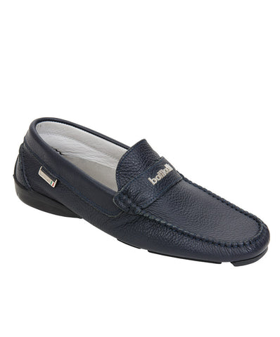 Roberto Botticelli Blue leather Moccasin