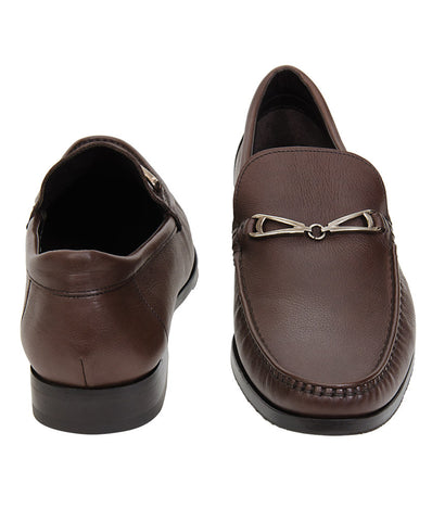 Bruno Magli Brown Leather Slip-Ons