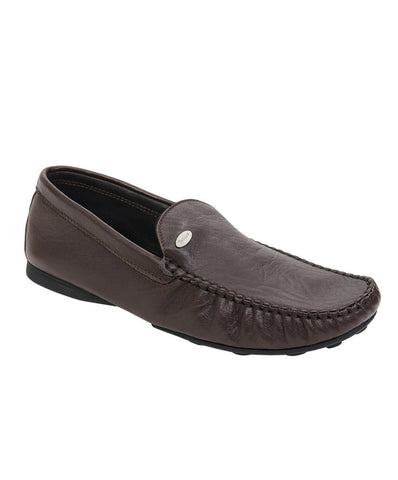 Roberto Botticelli brown leather moccasin.