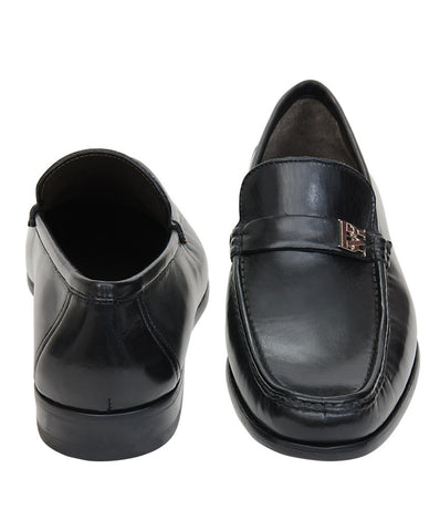 Bruno Magli Black Slip-On Shoes