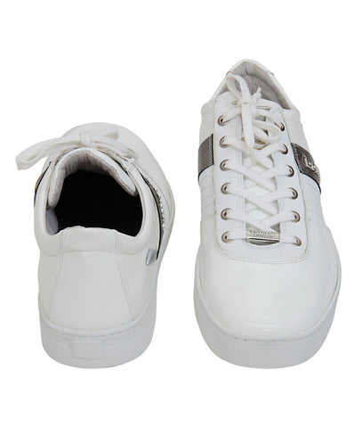 Roberto Botticelli White Patent Leather Sneaker