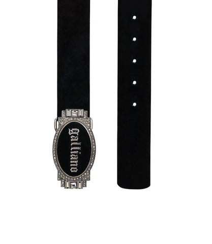 Galliano Black Belt With Black Buckle