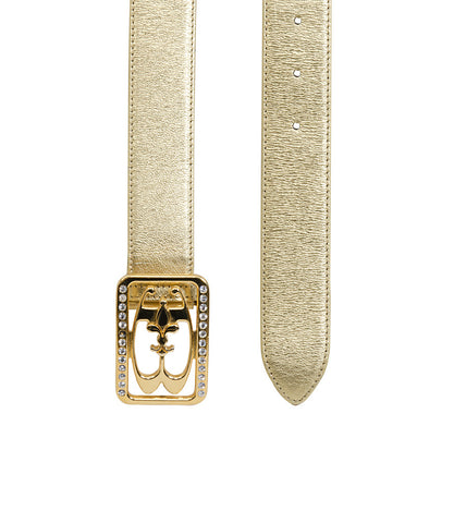 Braccialini Gold Leather Belt