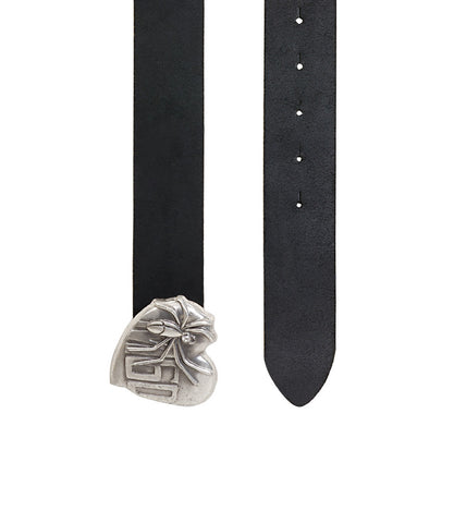 Miss Sixty Black Belt With Heart Buckle