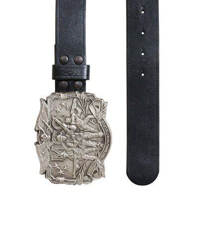 McQ Metal Buckle Black Belt