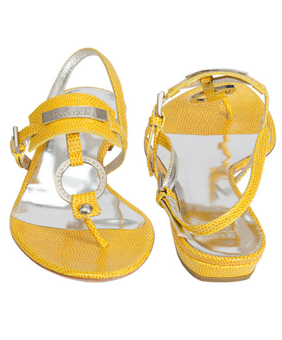 Braccialini Yellow Flat Sandals