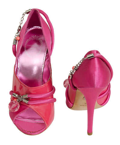 Emilio Pucci Crystal Pink Sandals
