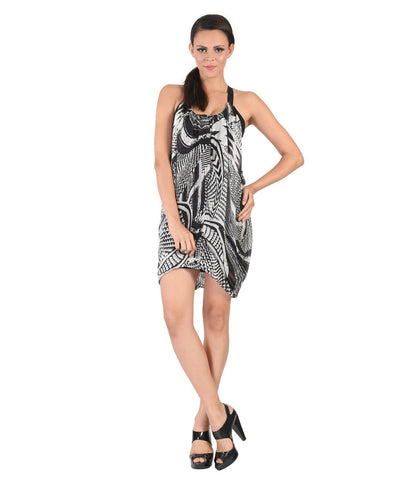 Miss Sixty Black & White Printed Dress