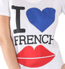 Cream t-shirt with I love french kiss