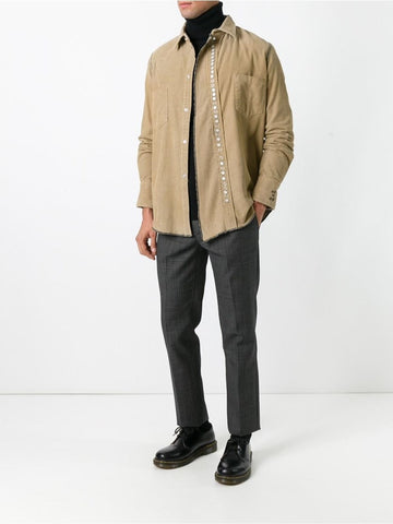 Beige cotton corduroy shirt
