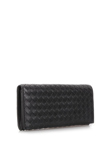 Black Intreccio continental wallet