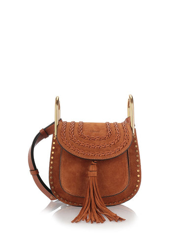 Tan suede Hudson shoulder bag