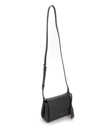 Black leather cross body bag