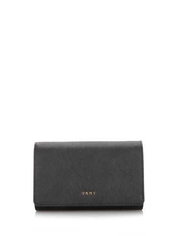 Black leather medium size wallet