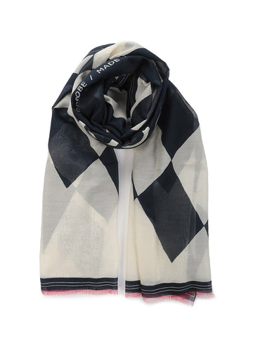 Cotton and silk Lisa scarf