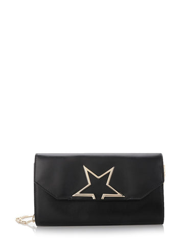Vedette crossbody pouch in black