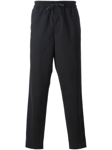 Black virgin wool blend trousers