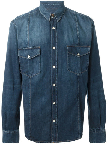 Blue cotton Duke denim shirt