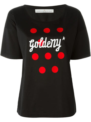 Black and red cotton Joya T-shirt